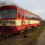 pomalovaný železniční vůz, foto PČR NJ