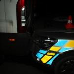nabourané policejní auto při couvání foto PČR