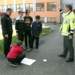 zakreslení výcvikové plochy BESIP v areálu školy v Hodslavicích