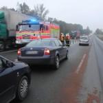 následná dopravní nehoda 7 vozidel s jedným lehkým zraněním. silnice 1-48 mezi Novým Jičínem a Příborev obci Rybí (5)